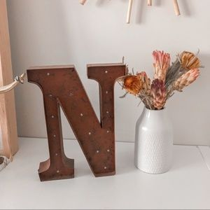 Rustic Antique Style Marquee Light Up Letter Sign